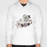 pitbull Hoodies featuring Majestic Pitbull by Carrillo Art Studio