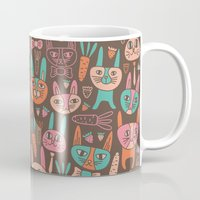 bunnies Mugs featuring Bunnies by Olya Yang