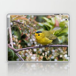 Cute Wilson's Warbler on the Grapevine Laptop & iPad Skin