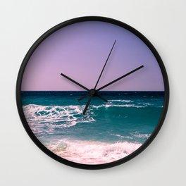 Azure Waves Wall Clock