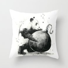 Panda Boom Throw Pillow
