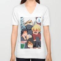 kakashi V-neck T-shirts featuring The babysitter by Momo Aiko