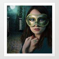 Moonlight Rendezvous Art Print