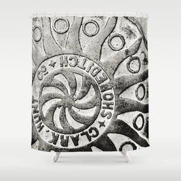 Manhole Cover 4 Shower Curtain