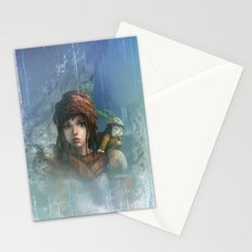 girl in the abyss  Stationery Cards