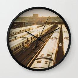 NYC Trains Wall Clock