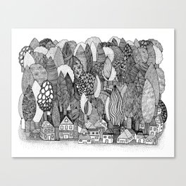 Mysterious Village Canvas Print