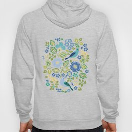 Birds and Flowers Hoody