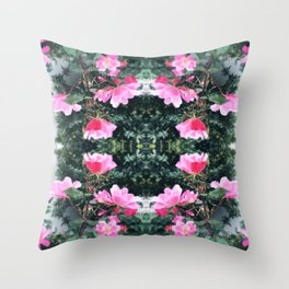 Candy Coated Roses Throw Pillow