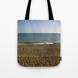 Evening Tide on a cobbled beach Tote Bag