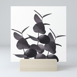 Eucalyptus Leaves Black White #1 #foliage #decor #art #society6 Mini Art Print