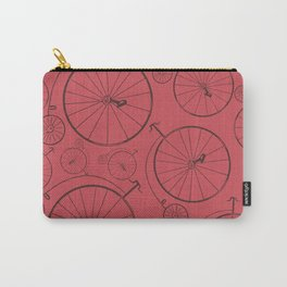 Vintage cycle red Carry-All Pouch