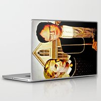 dwight Laptop & iPad Skins featuring Dwight Schrute & Angela Martin (The Office: American Gothic) by Silvio Ledbetter