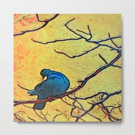 Bird On Branch #3 Metal Print