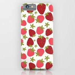 Modern Strawberry Summer Fruit iPhone Case