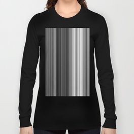 Black White Gray Thin Stripes Long Sleeve T-shirt
