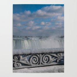 iced fencing - Niagara Poster
