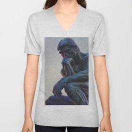 El pensador de Rodin Unisex V-Neck