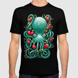 Octupus and Hearts T-shirt