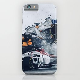 Formula One Crash iPhone Case