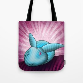 striped blue bunny Tote Bag