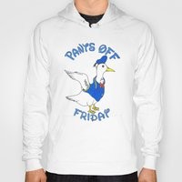 donald duck Hoodies featuring Pants Off Friday - Donald Duck by Bianca McKay