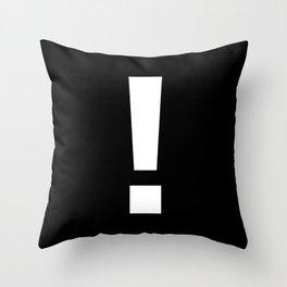 Exclamation Mark (White & Black) Throw Pillow