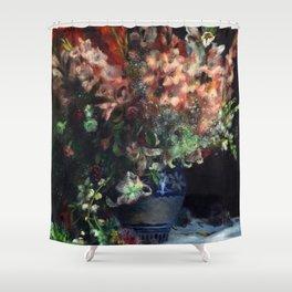 Auguste Renoir - Gladioli In A Vase Shower Curtain