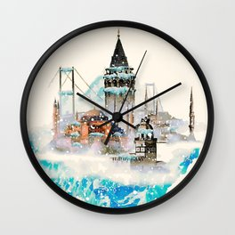 Istanbul landscape Wall Clock