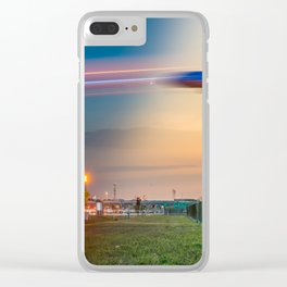 Time Traveling Machine Clear iPhone Case