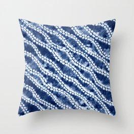 Shibori three Throw Pillow