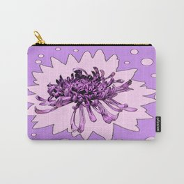 Lilac  Spider Mum Art Lilac Shades Carry-All Pouch