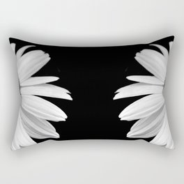 Half Daisy in Black and White Rectangular Pillow
