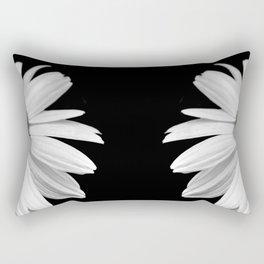 Half Daisy in Black and White Rectangular Pillow