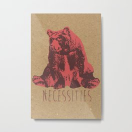 Bear Necessities Metal Print