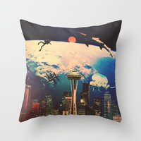 future Throw Pillows featuring Future. by Polishpattern