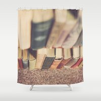 library Shower Curtains featuring The Library by Jessica Torres Photography