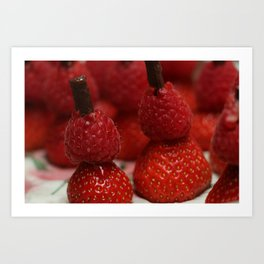 Berry Men Art Print
