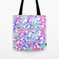 hawaiian Tote Bags featuring Hawaiian flowers by Marta Olga Klara