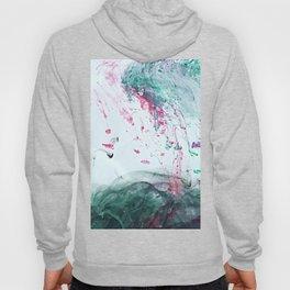 Raspberry Ocean Ink Fluid Hoody