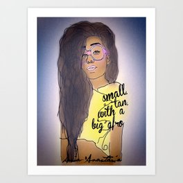 Small Tan With Big Afro  Art Print