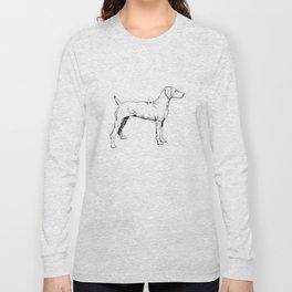 Viszla Dog Ink Drawing Long Sleeve T-shirt