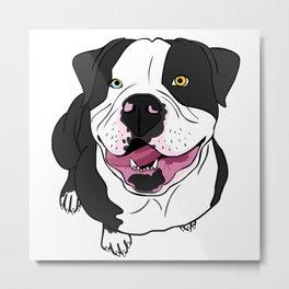 Bubba, the American Bulldog Metal Print