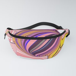 Pink Stripes Abstract Art Fanny Pack