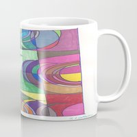 stained glass Mugs featuring Stained Glass by SaraLaMotheArt