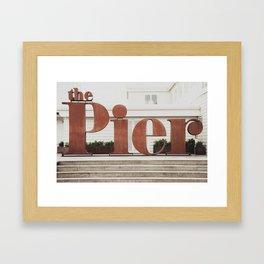 The rusty pier Framed Art Print