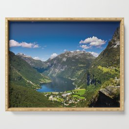 Geiranger Fjord Serving Tray