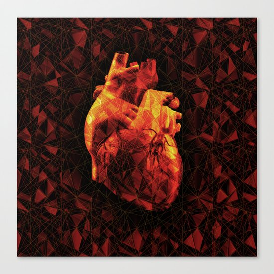 Geometric Heart Canvas Print
