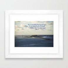 March 2 - Joshua 1:9 Framed Art Print