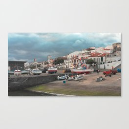 Portuguese harbour Canvas Print